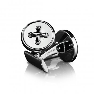 Black Tie Collection Button Silver