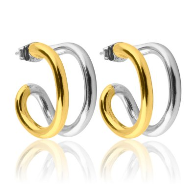Two Tone Hoops S Sophie by Sophie