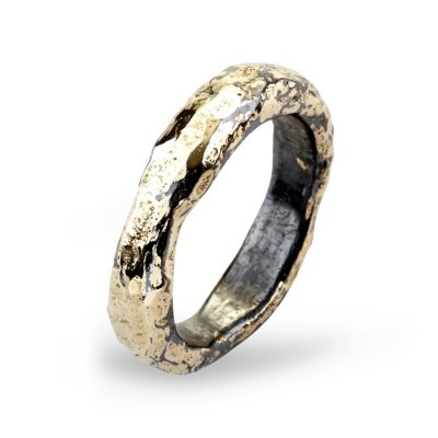 Heritage Golden Plain Ring By Birdie