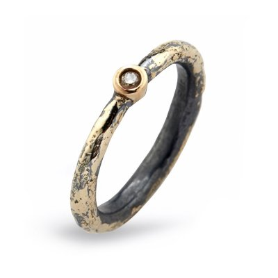 Heritage Golden Single Ring By Birdie