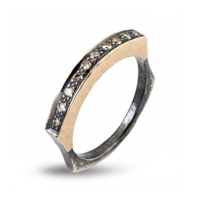 Jersey Pavé Ring By Birdie