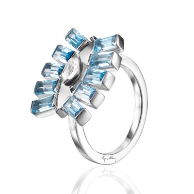 Pretty In Blue Ring Efva Attling