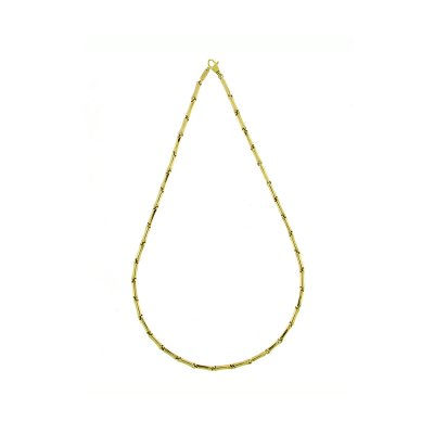 Bamboo Classic Necklace Kraftig Guld