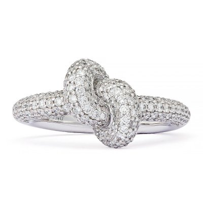 Absolutely Tight Knot Ring Pavé Vitguld Engelbert