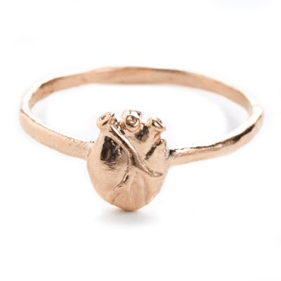 Anatomic Heart Ring Rosé Stor Bjørg