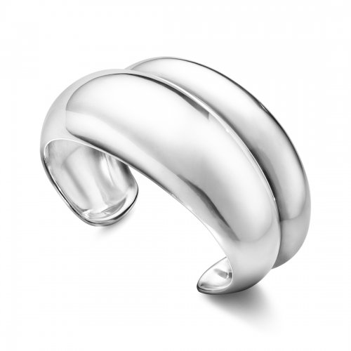 Curve Medium Bangle Silver