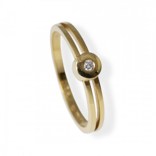 Spring Collection Ring Guld 0,03 ct
