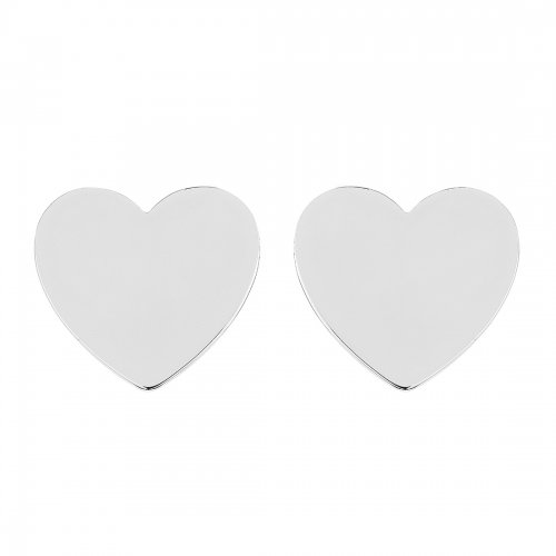 Heart Mini Studs Silver Sophie by Sophie