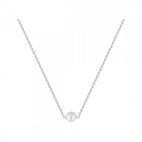 Pearl Halsband Silver Sophie by Sophie