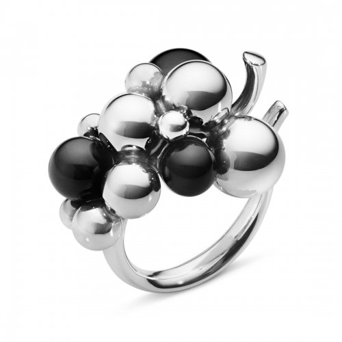Moonlight Grapes Ring Onyx Medium Georg Jensen