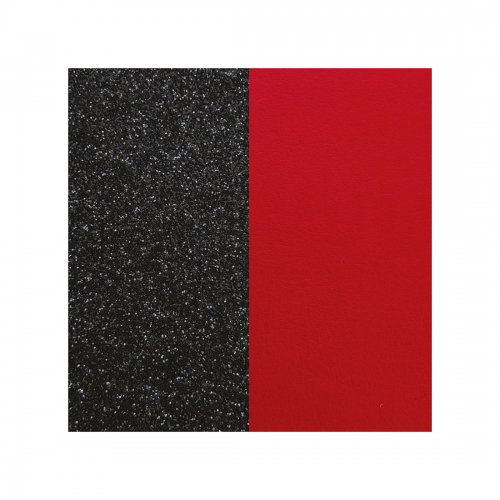 Läderband Black Glitter/Red