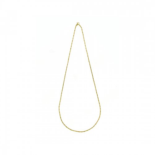 Bamboo Classic Necklace Mellan Guld
