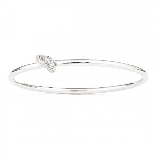 Absolutely Knot Pavé Bangle Vitguld Carl Hoff