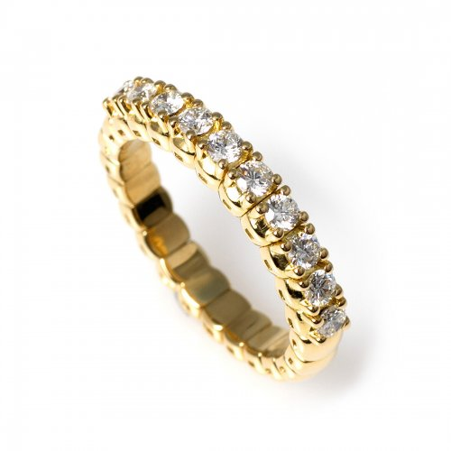 Stretch Ring 0, 42 ct Guld