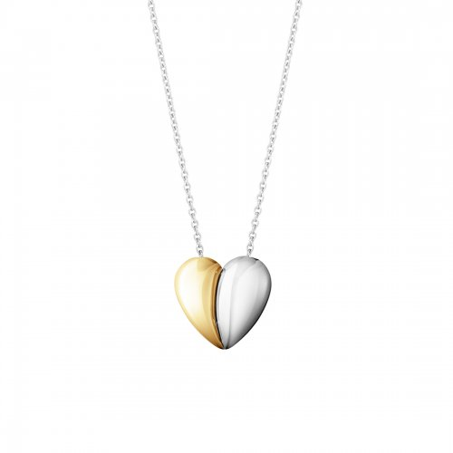 Curve Heart Pendant Guld/Silver