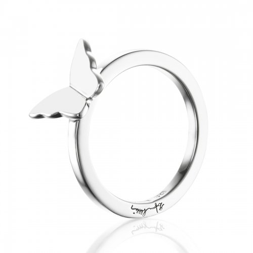 Little Miss Butterfly Ring Silver