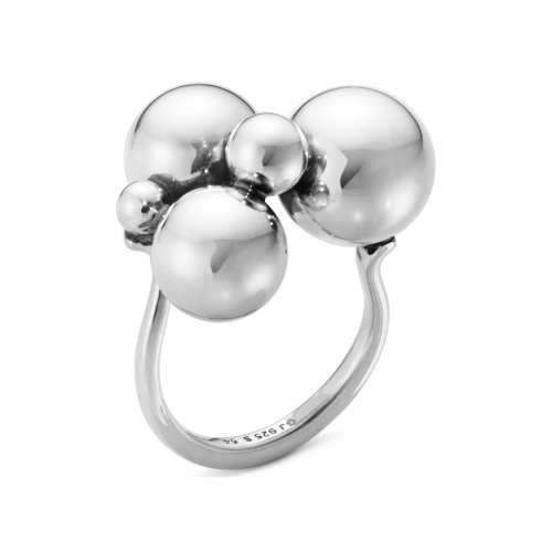 Moonlight Grapes Ring Silver Georg Jensen